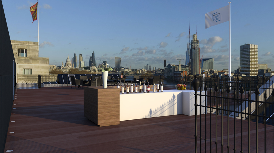 Johnson roof terrace at savoy place eventspiration for Terrace johnson