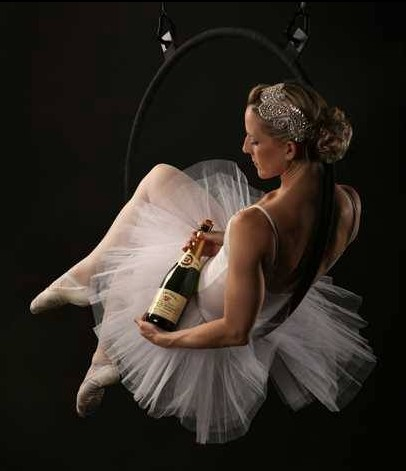 Aerial Hoop Champagne Pour